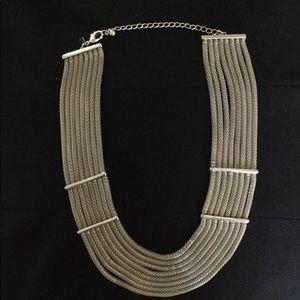 Chico's Silver Multiple Silver Chain Necklace.